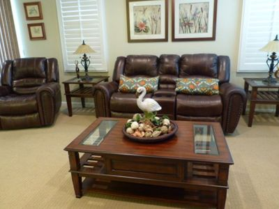 Genuine leather sofa lounge chairs w/ cup holder