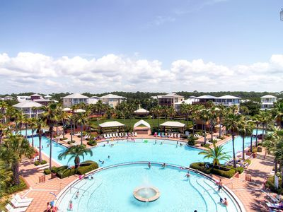 You'll have access to the Seacrest Lagoon Pool: 12000 sq. feet of fountains, waterfalls, and cabanas. Oh yeah!