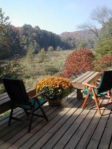 Quechee cabin rental - Fall View From Deck