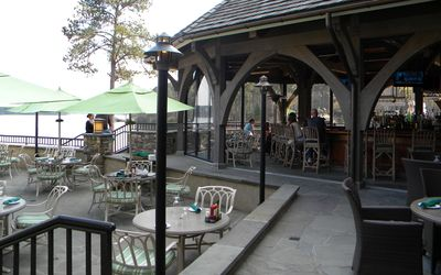 Greensboro cottage rental - Gabby's Bar and Restaurant overlooking the lake at the Ritz