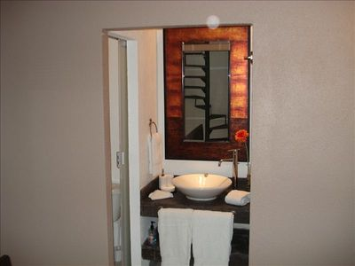 Bath room, to the right shower and to the left WC