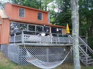 Northwood house photo - Entrance with deck and hammock