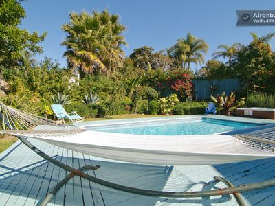 Relax in your Own Tropical Oasis with year Round Heated Pool & Spa