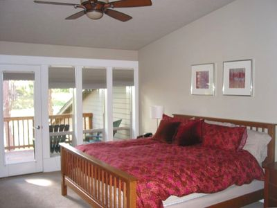 Master Bedroom on Second Floor with Private Balcony
