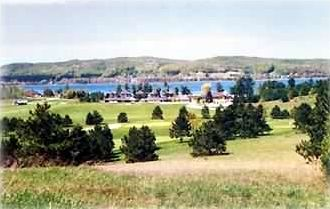 Boyne Mountain condo rental - View of Deer Lake, Beach House Resturaunt and Golf Course