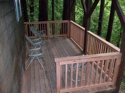 Lower Deck Overlooking Brook Outside  King Bedroom