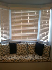 The Master bedroom window seat