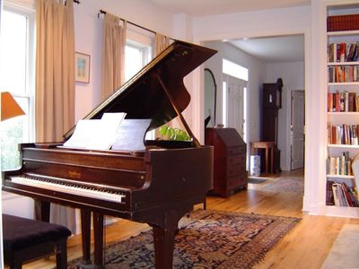Piano and Gracious Front Hallway