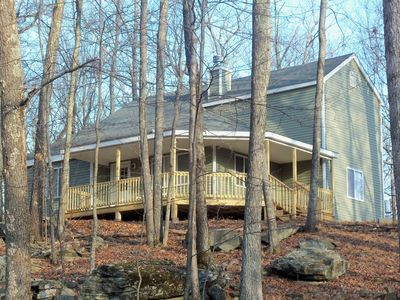 Masthope cottage rental - Rear of home which overlooks wooded lot