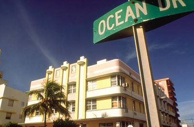 Ocean Drive vacation rental front of building