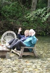 Big Sur house photo - Us in river chairs at River Inn Restaurant