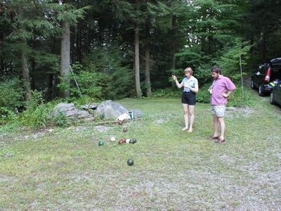 Playing Bocce..who's closer?