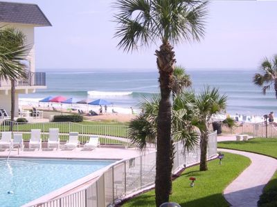 Pool and Ocean View from your Balcony. Watch the Dolphins at Play.