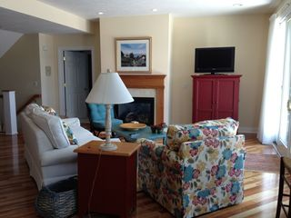 Manistee condo photo - Beautifully decorated living area