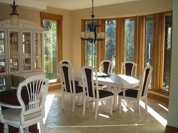 The Dining Room - provides a beautiful view from the bay window