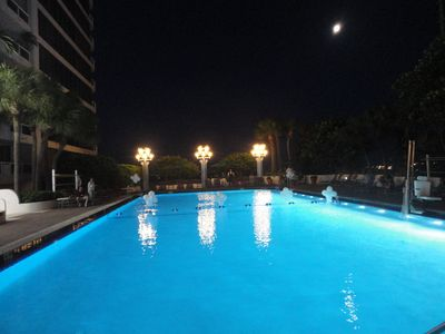 Olympic heated pool with LED lighting