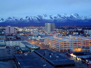 Houston cabin photo - Picture of downtown Anchorage taken from the Sheraton hotel.