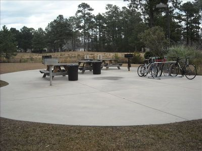 Barbeques and bike racks