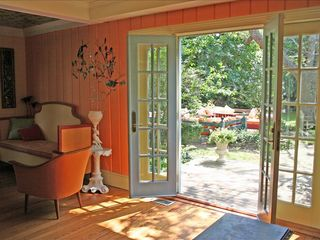 East Quogue house photo - French doors to garden.