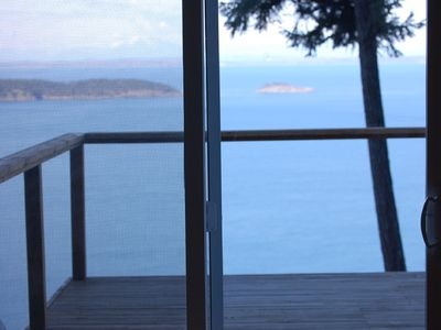 Eastsound cabin rental - Beautiful views from the living room