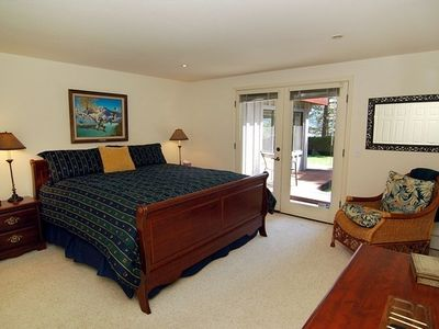 Master has lake views, lots of closets, jacuzzi bath, shower, flat screen TV-DVD