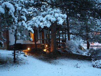 A real Estes Park Winter Wonderland Cabin with plenty of Privacy.