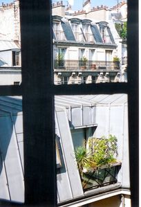 11th Popincourt/Bastille apartment rental - East Aspect Over Rooftops from W/C