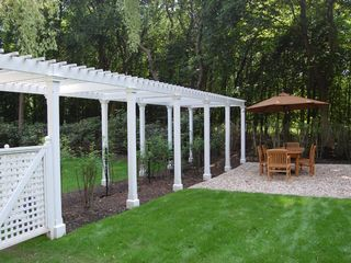 Bridgehampton house photo - separate outdoor dining area with separate kitchen & grill