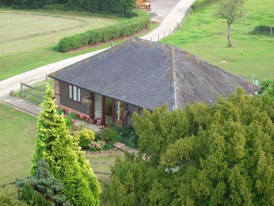Aerial view of the Cart Shed