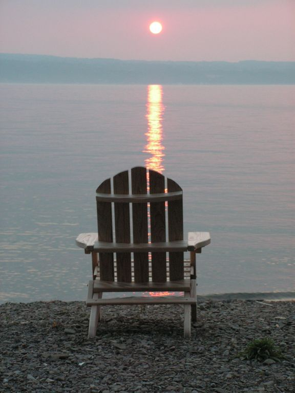 Ithaca cottage rental - Sunset...