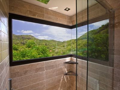Open view shower