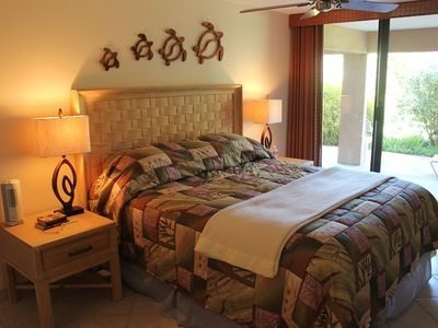 Master bedroom has an in-suite full bath as well as lanai access.