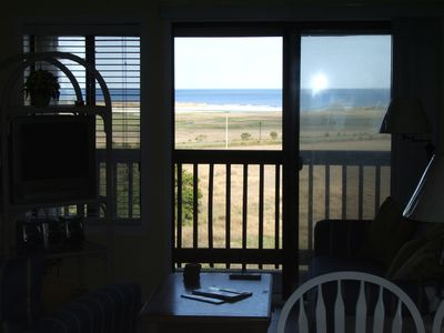 Ocean view from inside