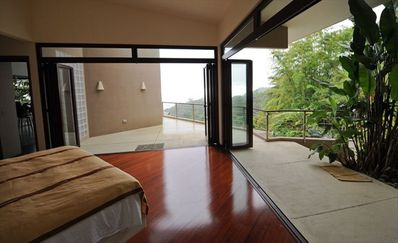Open Up the Master Bedroom Window Doors to a Gorgeous View