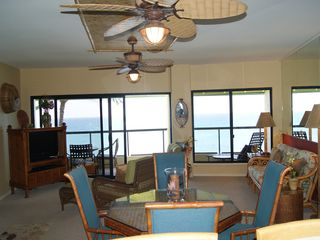 Poipu condo photo - View of living area and Lanai