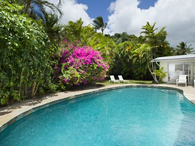 Honolulu house rental - Large Pool and Backyard Grass Area which is 26 X 26 Feet
