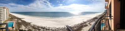 Our iPhone panoramic balcony view. Pretty cool.