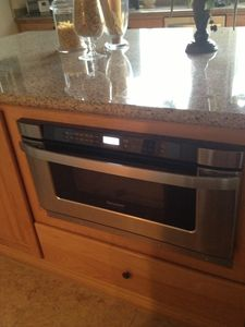 Microwave warmer drawer - this is a highly upgraded kitchen.