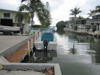 Islamorada house photo - Your private boat dock. We recommend no more than a 25' boat.