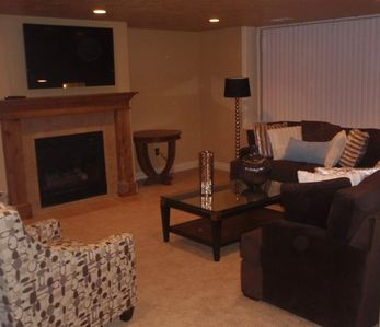 The Sleepy Ridge Home - 5200 sq ft of fun - Here's the downstairs TV Room