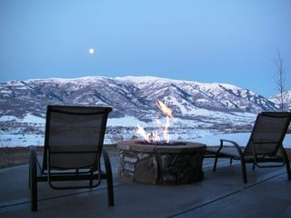 Snowbasin house photo - Moon set by the Fire Pit is the perfect way to start the day