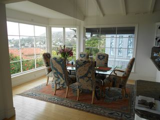 Dining area with Catalina Island views. - Laguna Beach house vacation rental photo