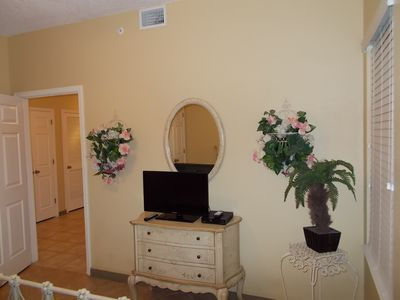 Fort Morgan condo rental - Navy Cove - 2nd Bedroom with Flat Screen and DVD Player