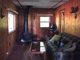 Bath cabin photo - Cabin 2 living space with queen foldout couch