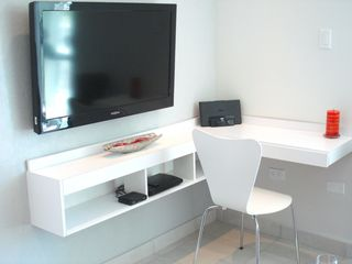 Isla Verde apartment photo - Custom made Desk area with I-pod docking station, Wifi, Cable & Blue ray