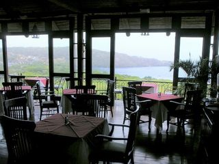 Playa Hermosa villa photo - Restaurant at Villas Sol: sunset views over the gulf