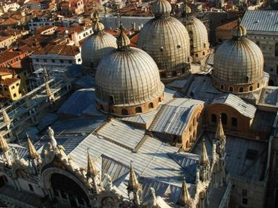 Sant Mark Basilique view from the top of San Marco Campanile