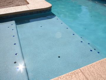 Maricopa house rental - New pool! This is the large Baja area of the pool. Pebble Tech finish! Smooth!