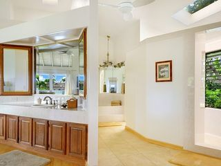 Poipu house photo - Master bathroom, separate walk in shower, Jacuzzi
