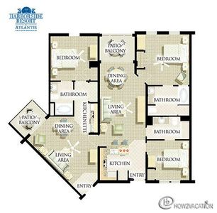 3-br lockoff unit floor-plan.
